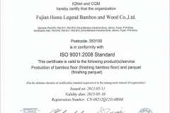 ISO 9001 2008 by IQNET, CQM
