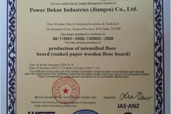 ISO 9001 2008 by WSF